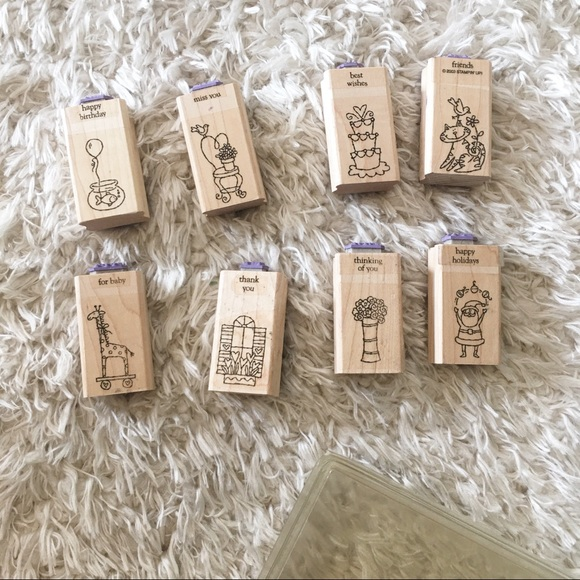 Stampin' Up 2003 Little Hellos Wood Stamp Set
